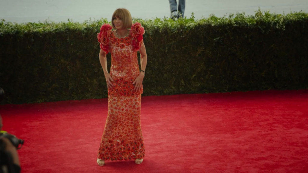 Anna Wintour Arriving at 2015 Met Gala