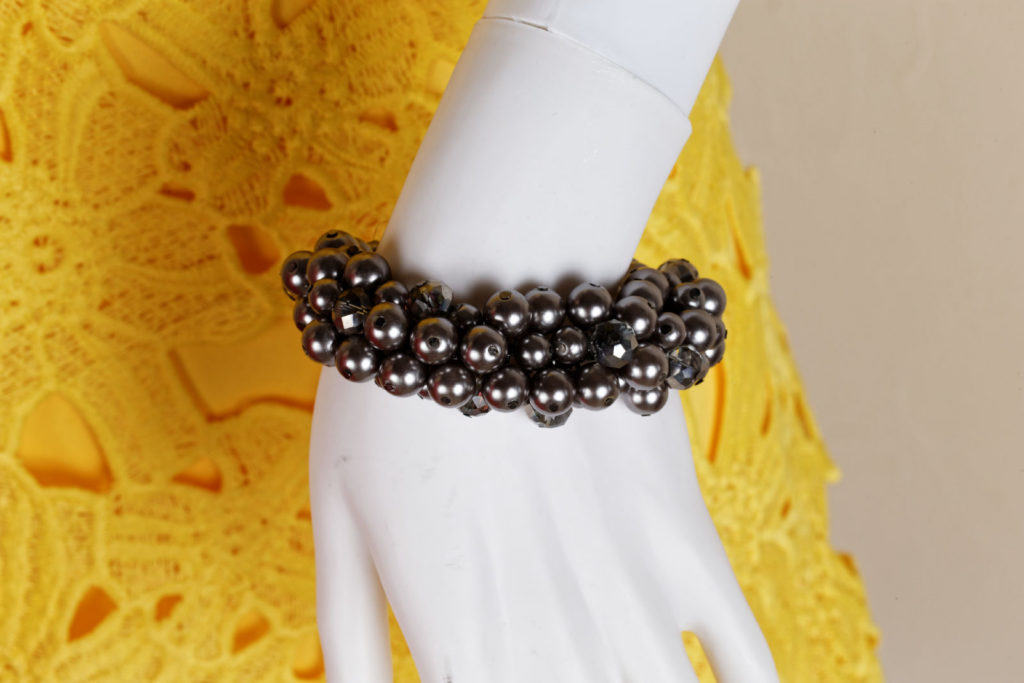 Dark Gray beaded bracelet