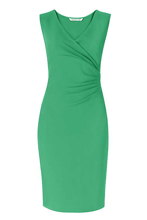 DVF Green Sheath Dress