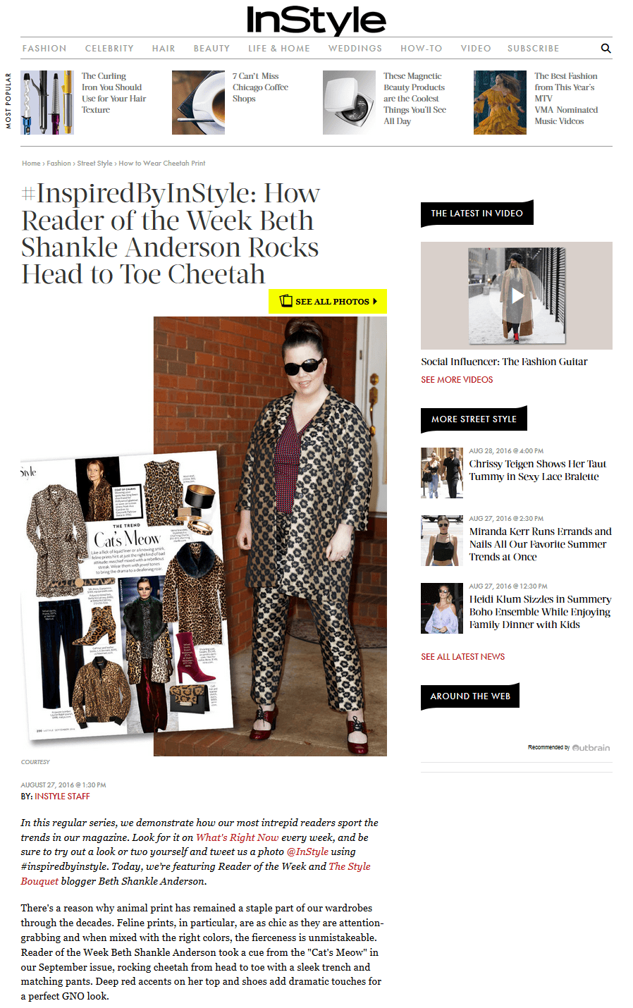 InStyle Magazine - Inspired by Instyle Feature