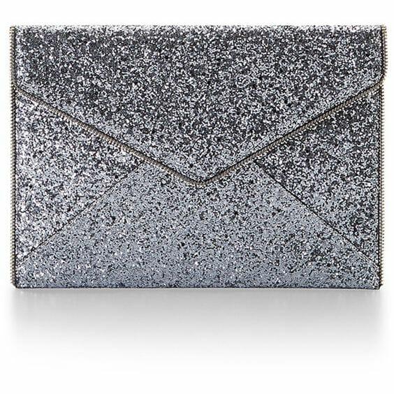 Rebecca Minkoff Glitter Envelope Clutch
