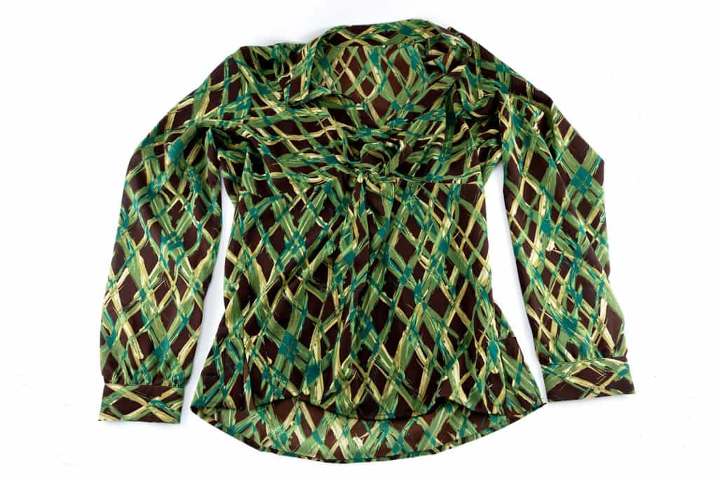 Green Printed Blouse