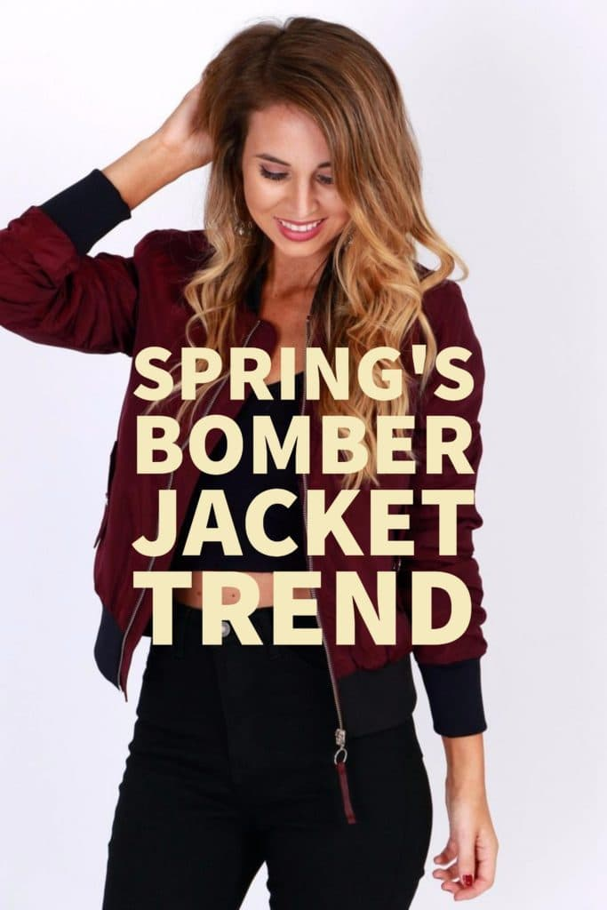 Spring's Bomber Jacket Trend