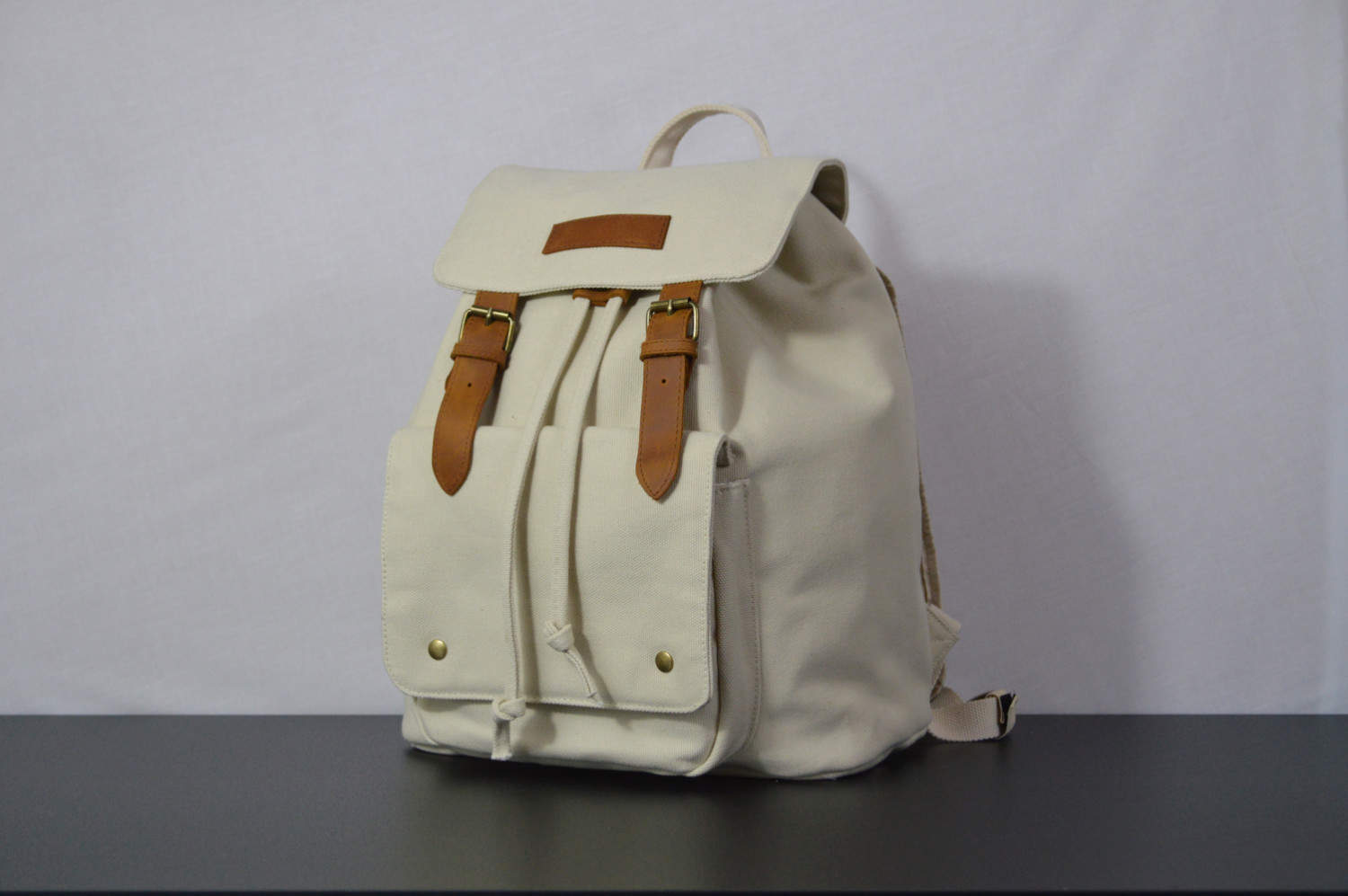 Kurtis Paul Canvas Cream Backpack Rucksack