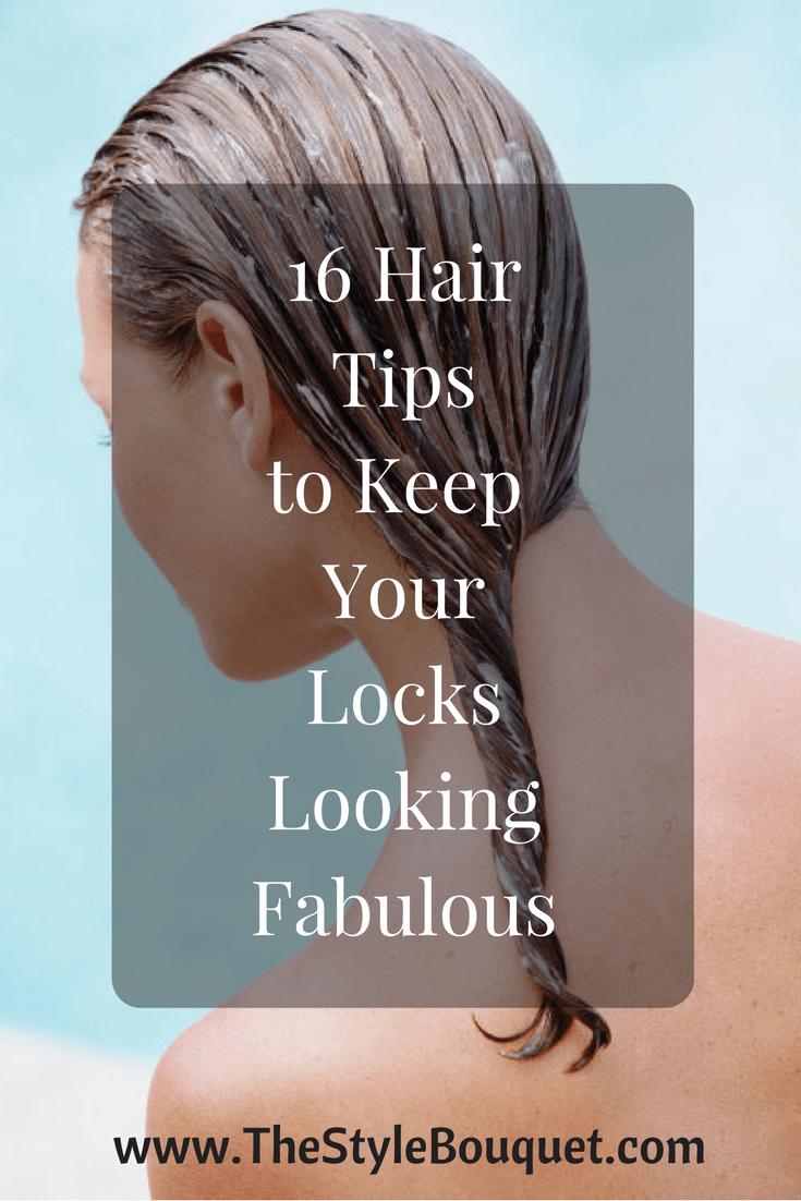 16 Hair Tips - Pinterest