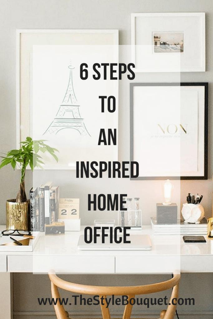 6 Steps Inspired Home Office - Pinterest