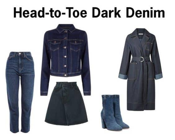 Head-to-Toe Dark Denim