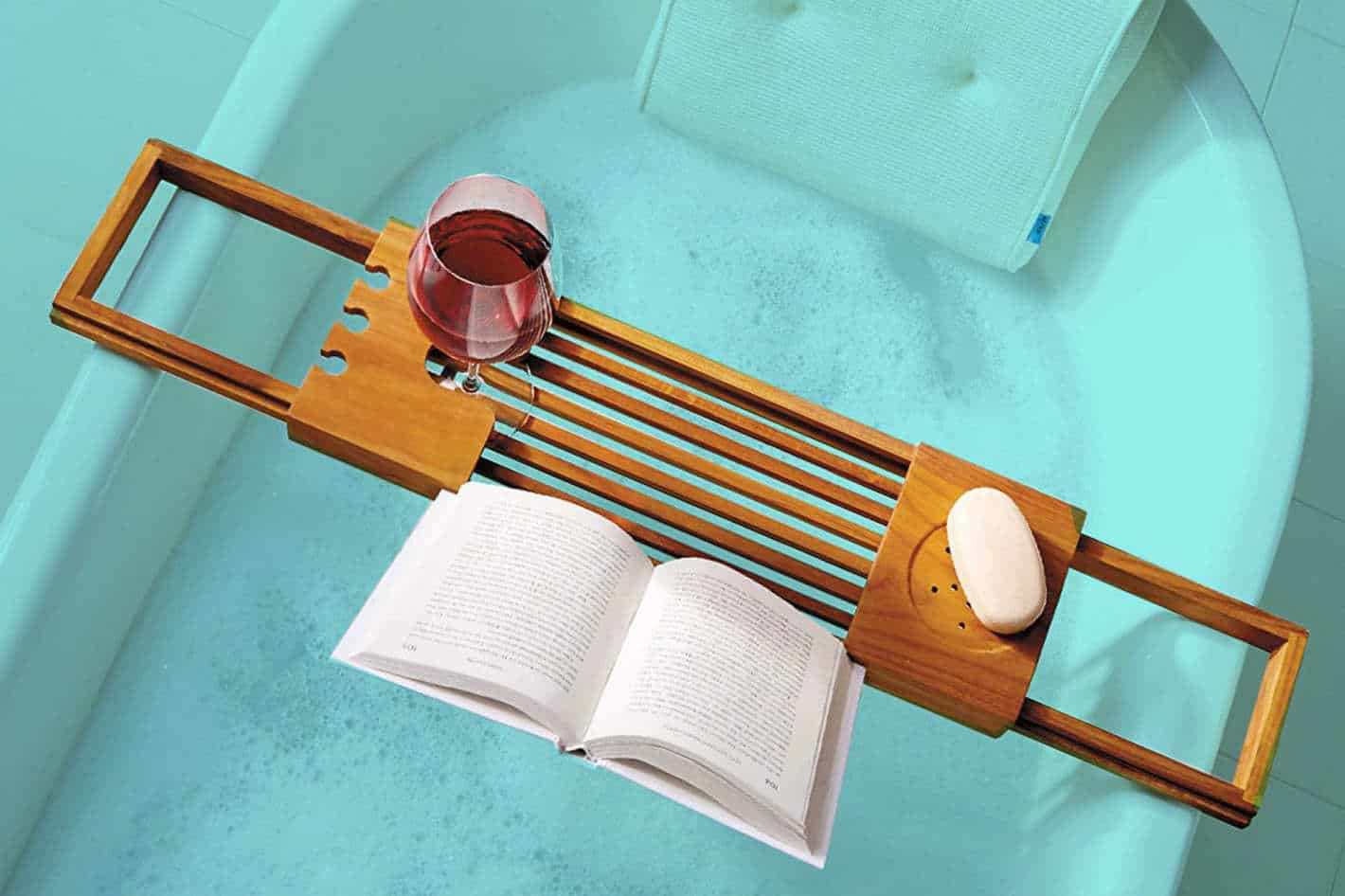 Bathtub Tray with Book