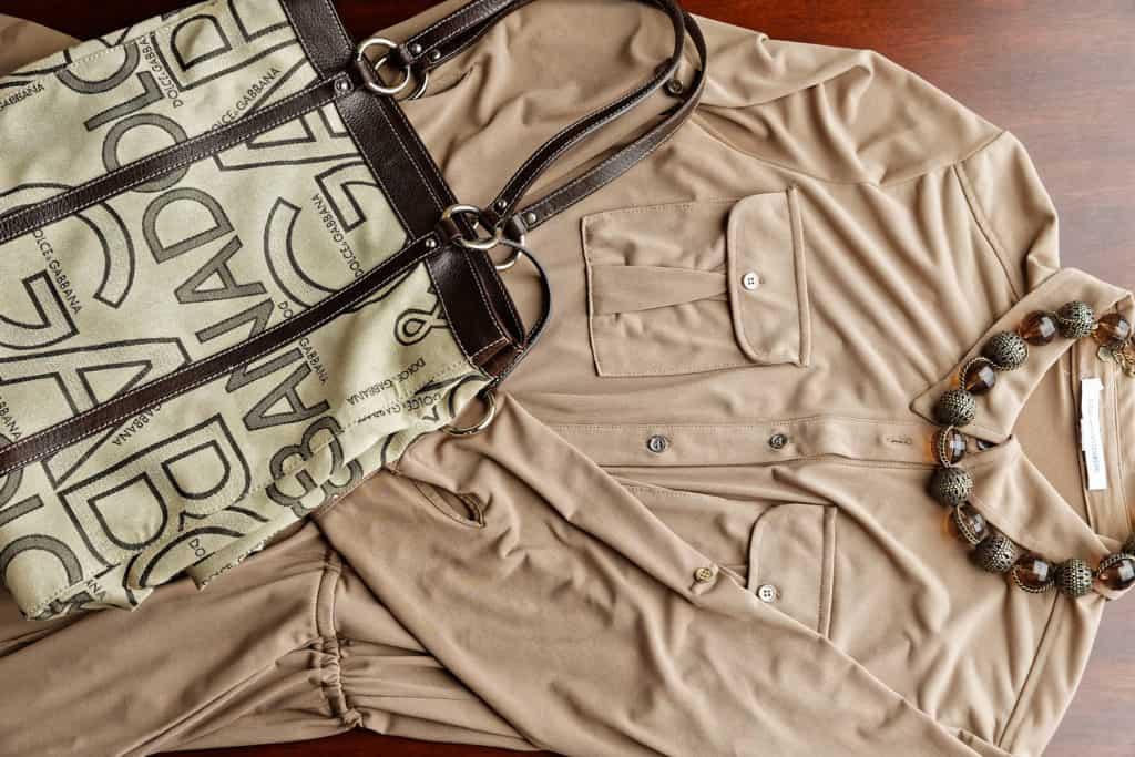 DVF Jumpsuit & D&G Handbag