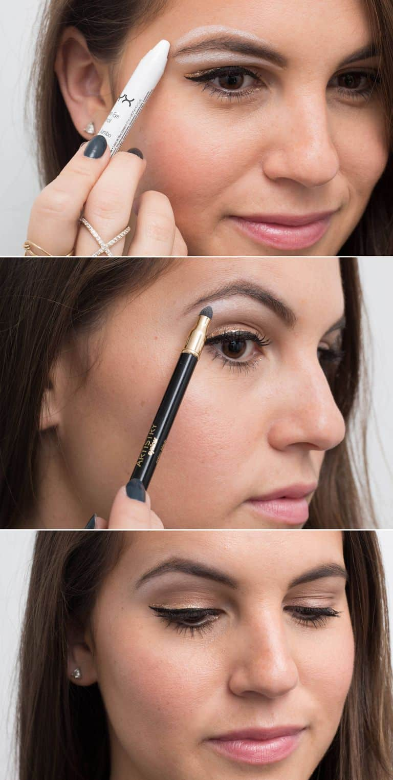 white eyeliner brow highlighter