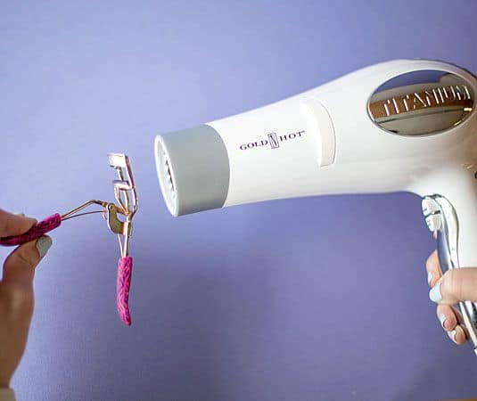 eyelash curler hair dryer