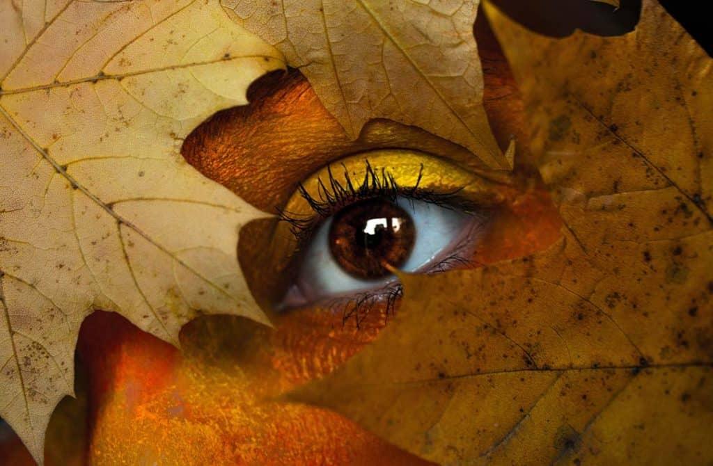 Yellow fall makeup