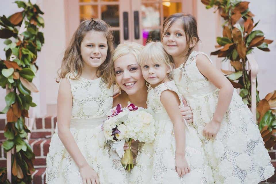 The Bride with Her Flower Girls