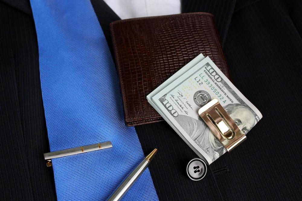 Tie and money clip