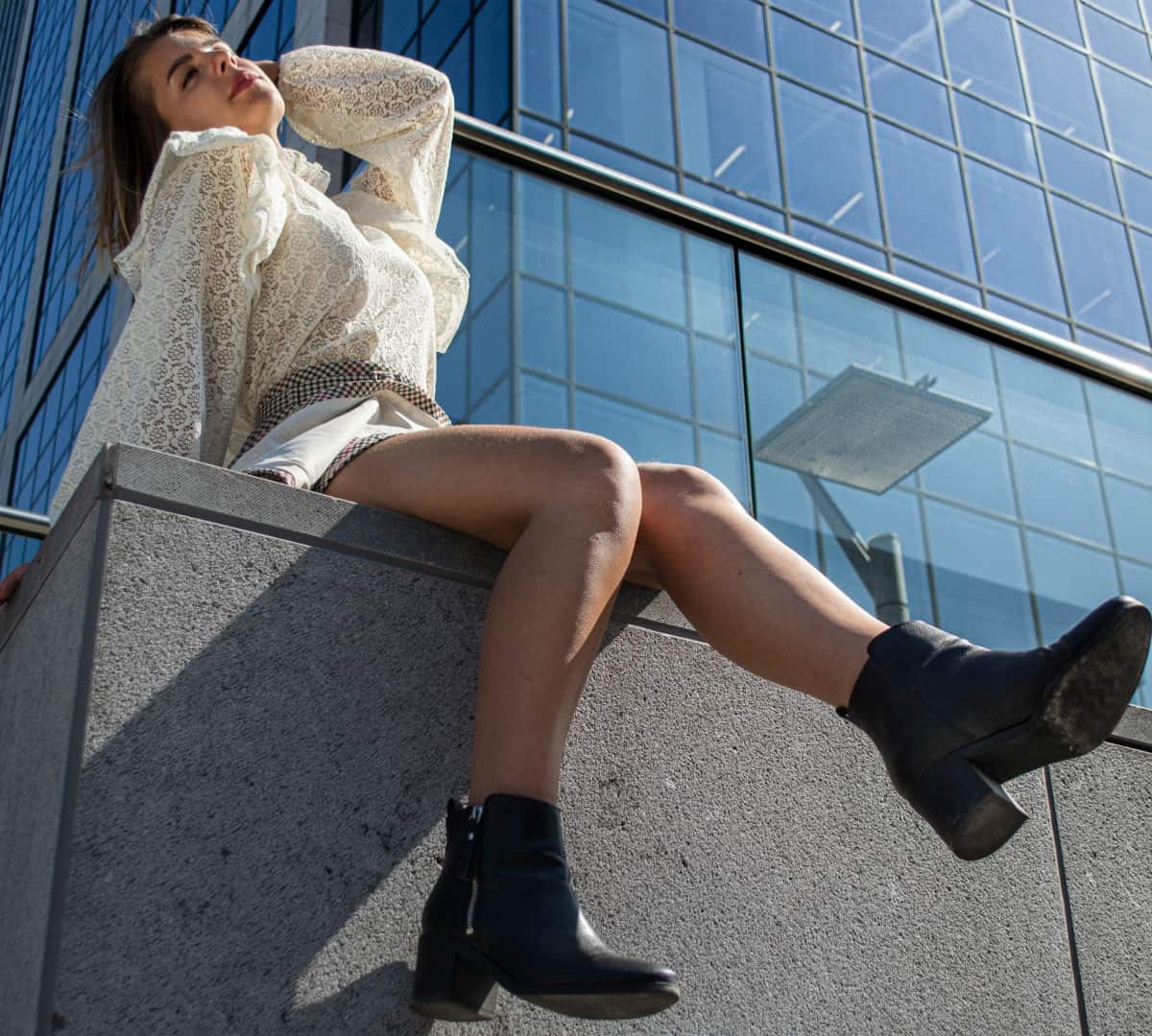 A stylish pair of ankle booties
