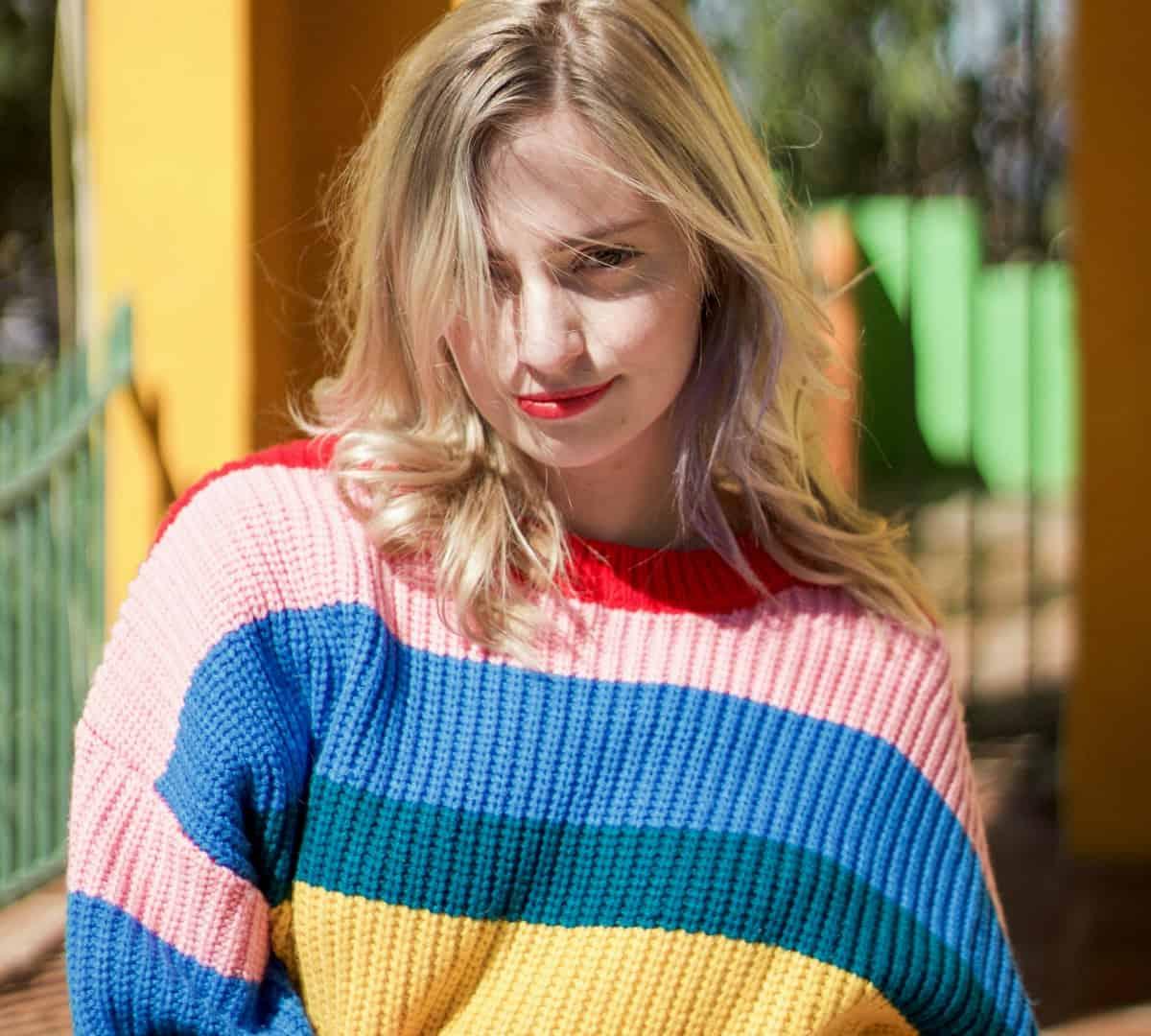 A trendy statement knit sweater