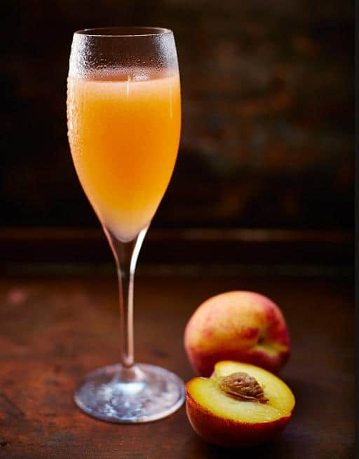 Bellini with Peaches