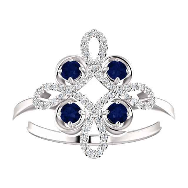 sapphire and diamond ring by Parker Edmond
