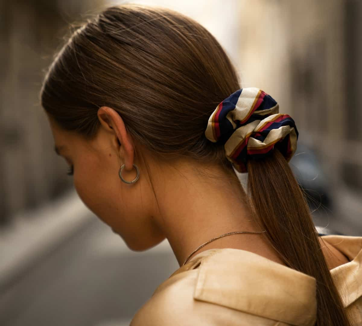 Wear your hair in a ponytail