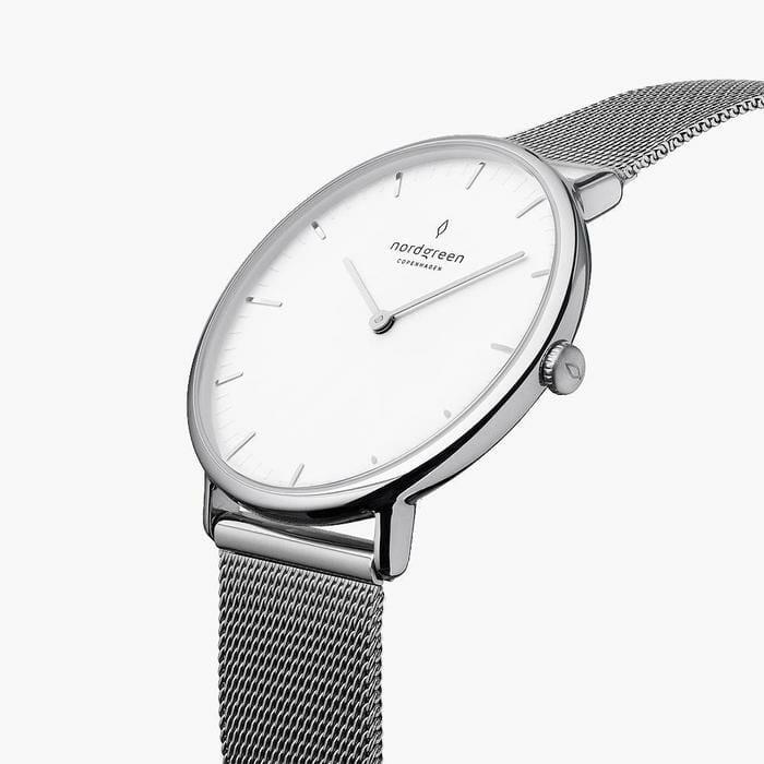 Nordgreen Men's Native - White Dial - Silver