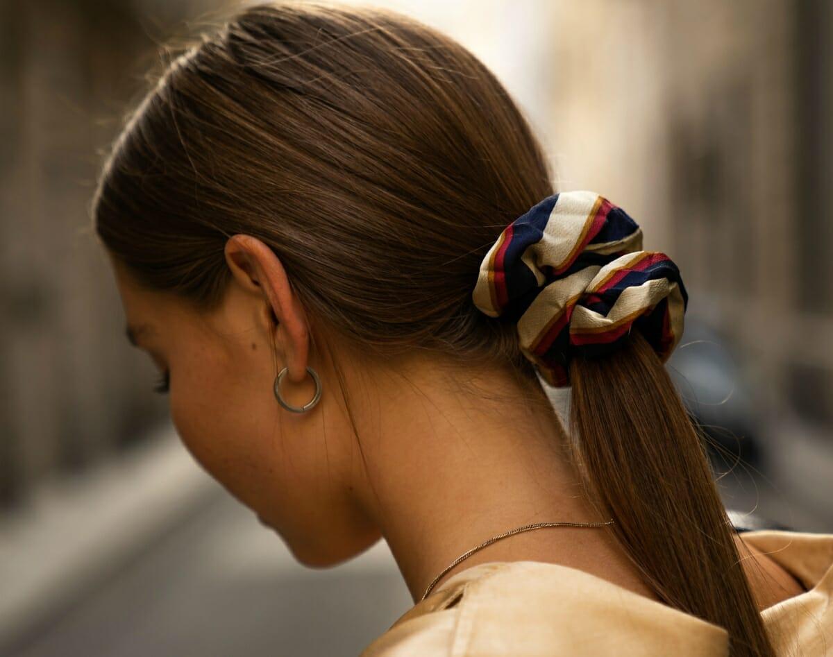Romantic low ponytail