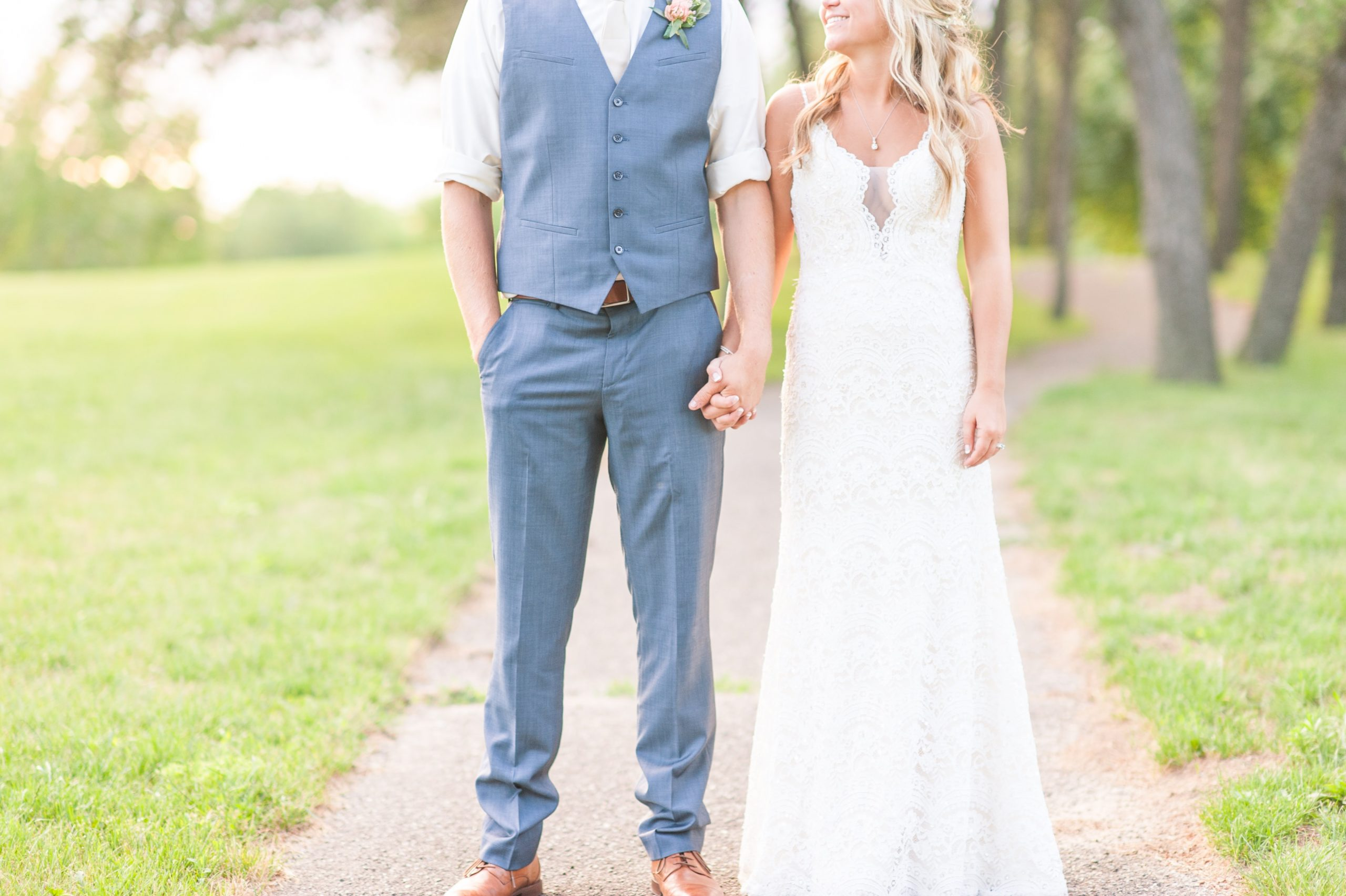 Bride and Groom Outdoors
