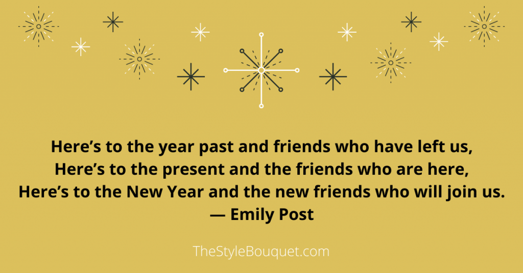 Emily Post Toast for New Year's