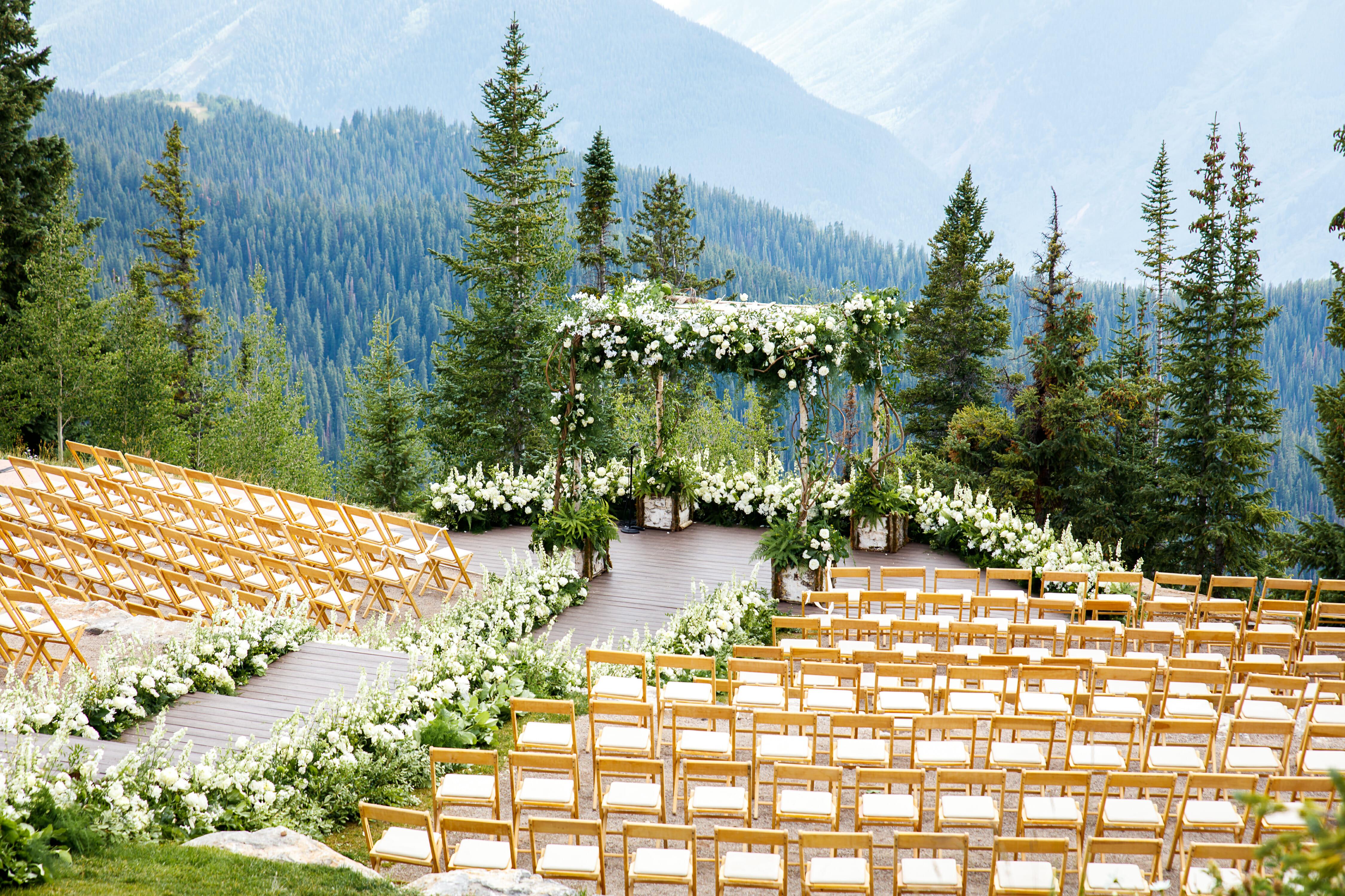 Aspen Mountain Wedding Deck