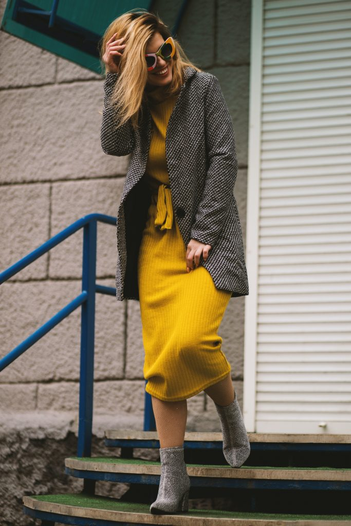Yellow & Gray Outfit
